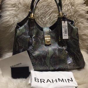 Brahmin Moonstone Seville Elisa Handbag